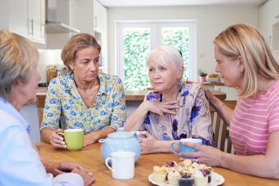 senior woman with their caregiver